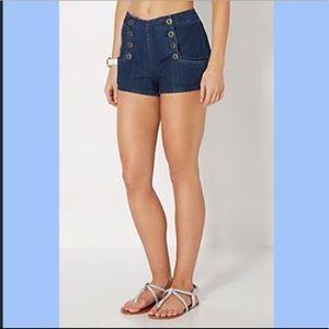 Kimchi Blue Sailor Denim Shorts Sz 2